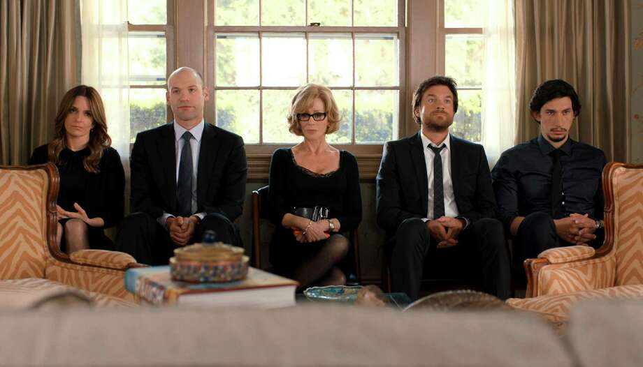 "This image released by Warner Bros. Pictures shows, from left, Tina Fey, Corey Stoll, Jane Fonda, Jason Bateman and Adam Driver in a scene from the film, ""This Is Where I Leave You."" (AP Photo/Courtesy Warner Bros. Pictures) ORG XMIT: CAET753 Photo: Courtesy Of Warner Bros. Pictures / Warner Bros. Pictures"