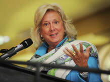 Former chief of New York's Sex Crimes Prosecution Unit Linda Fairstein delivers the keynote address at The Center for Family Justice's 17th annual Speaking of Women luncheon at The Waterview in Monroe, Conn. on Thursday, September 18, 2014.