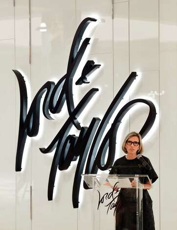 Liz Rodbell, president of Hudson's Bay Co and Lord and Taylor, speaks during the official opening of Lord & Taylor at Crossgates Mall Thursday morning, Sept. 18, 2014, in Guilderland, N.Y. (Skip Dickstein/Times Union) Photo: SKIP DICKSTEIN / 00028678A