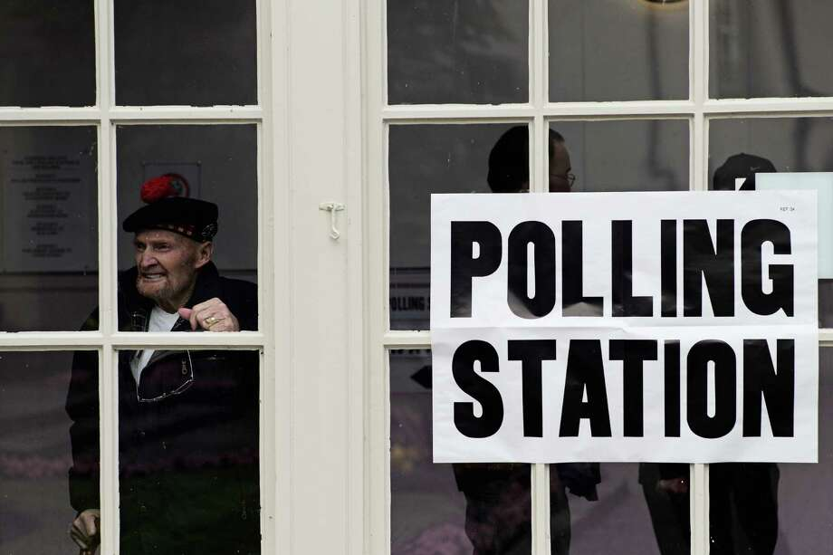 'I have waited all my life for this vote,' former Gordon Highlander Jock Robertson, 81, says Thurs-day after casting his ballot in Peebles, Scotland. Photo: Christopher Furlong, Staff / 2014 Getty Images