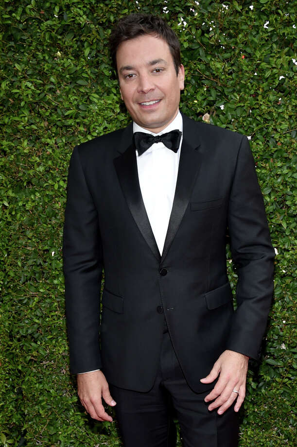 IMAGE DISTRIBUTED FOR THE TELEVISION ACADEMY - Jimmy Fallon arrives at the 66th Primetime Emmy Awards at the Nokia Theatre L.A. Live on Monday, Aug. 25, 2014, in Los Angeles. (Photo by John Shearer/Invision for the Television Academy/AP Images) ORG XMIT: INVL Photo: John Shearer / Tonya Wise