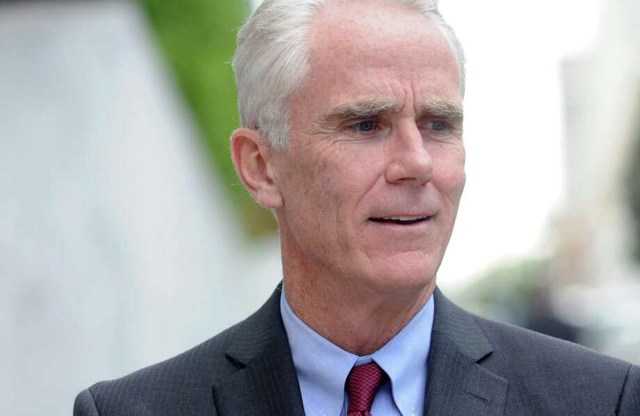 John Cahill, the Republican candidate for Attorney General, announces his domestic violence initiative during a press conference on Thursday, Sept. 18, 2014, in Albany, N.Y.    (Paul Buckowski / Times Union) Photo: Paul Buckowski / 00028683A
