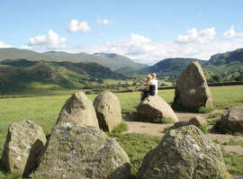 Sitting on a stone at the Castlerigg circle, in England's Lake District, inspires contemplation.