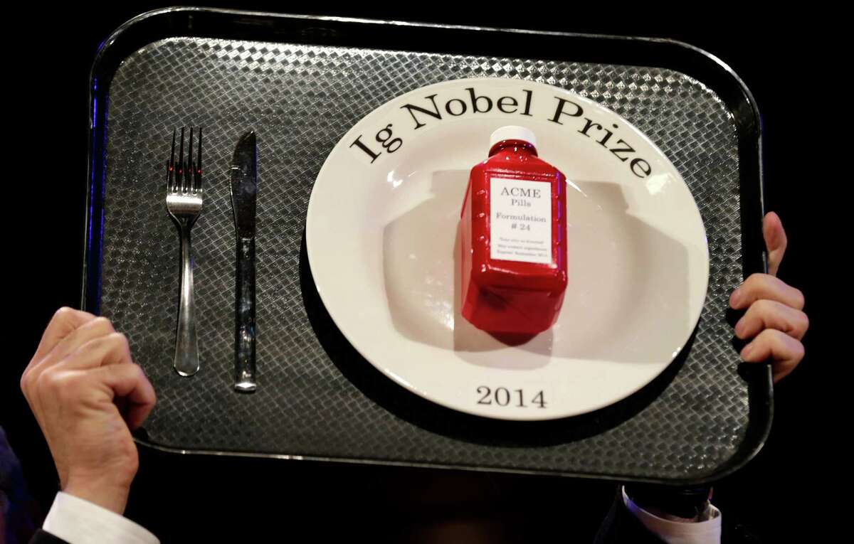 The Ig Nobel prize is an award handed out by the Annals of Improbable Research magazine for silly sounding scientific discoveries that often have surprisingly practical applications. See the big winners for 2014.