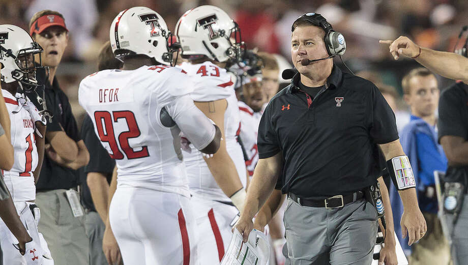 Matt Wallerstedt's defense allowed 438 yards rushing to Arkansas, then ESPN.com reported he was under the influence of an unknown substance on campus. Photo: Courtesy Photo / Texas Tech Athletics / Michael Strong