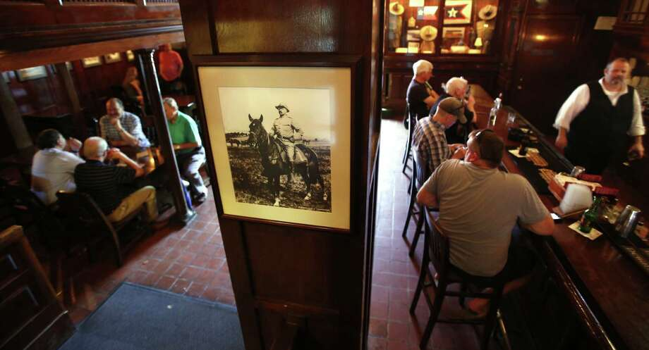 Teddy Roosevelt memorabilia is seen Wednesday Sept. 17, 2014 in the Menger Hotel bar, where it is said Roosevelt recruited volunteers for his Rough Riders. Photo: William Luther, San Antonio Express-News / © 2013 San Antonio Express-News