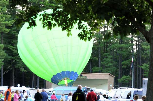 The Limelight balloon is on display during the 42nd annual Adirondack Balloon Festival on Thursday, Sept. 18, 2014, at Crandall Park in Glens Falls, N.Y. (Cindy Schultz / Times Union) Photo: Cindy Schultz / 00028662A