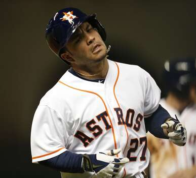 September 18: Indians 2, Astros 1 (13 innings)  The offense was quiet (Jose Altuve didn't even get a hit in six plate appearances) as the Astros dropped the series finale in extra innings.  Record: 67-86. Photo: Karen Warren, Houston Chronicle