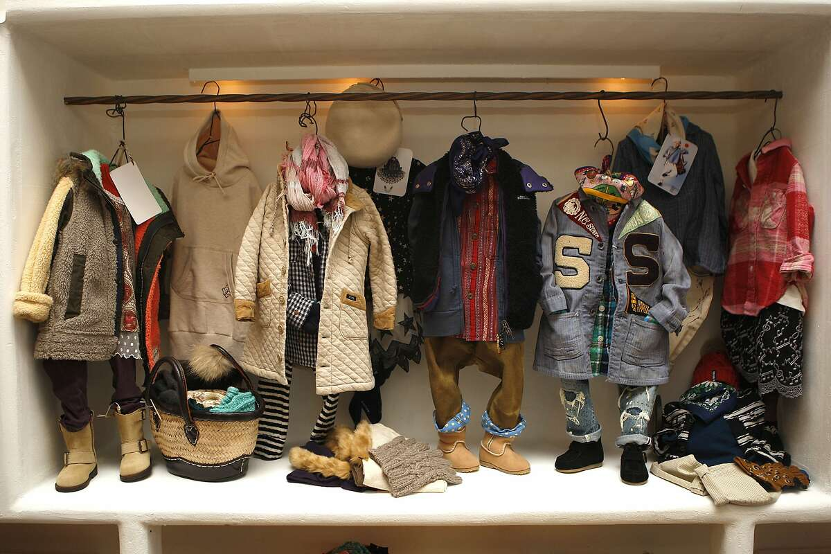 Children's clothes designed by Fith displayed at Cotton Sheep in San Francisco, Calif., on Thursday, September 11, 2014.