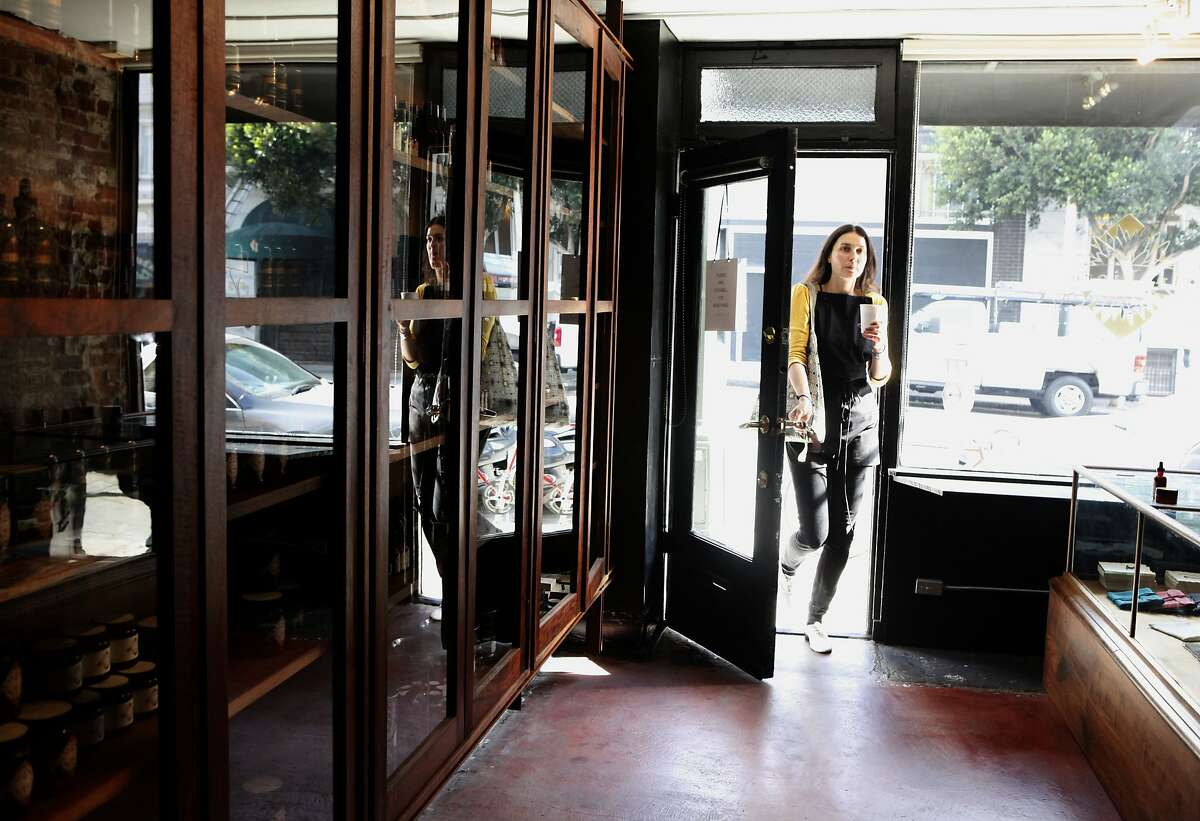 Marketing visionary Paris Miller enters In Fiore in San Francisco, Calif., on Friday, September 5, 2014.
