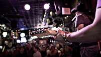 Honky tonks and country-western bars can be found all over Nashville but dominate the city's downtown Music District.  (photo courtesy of Nashville Convention & Visitors Corporation)
