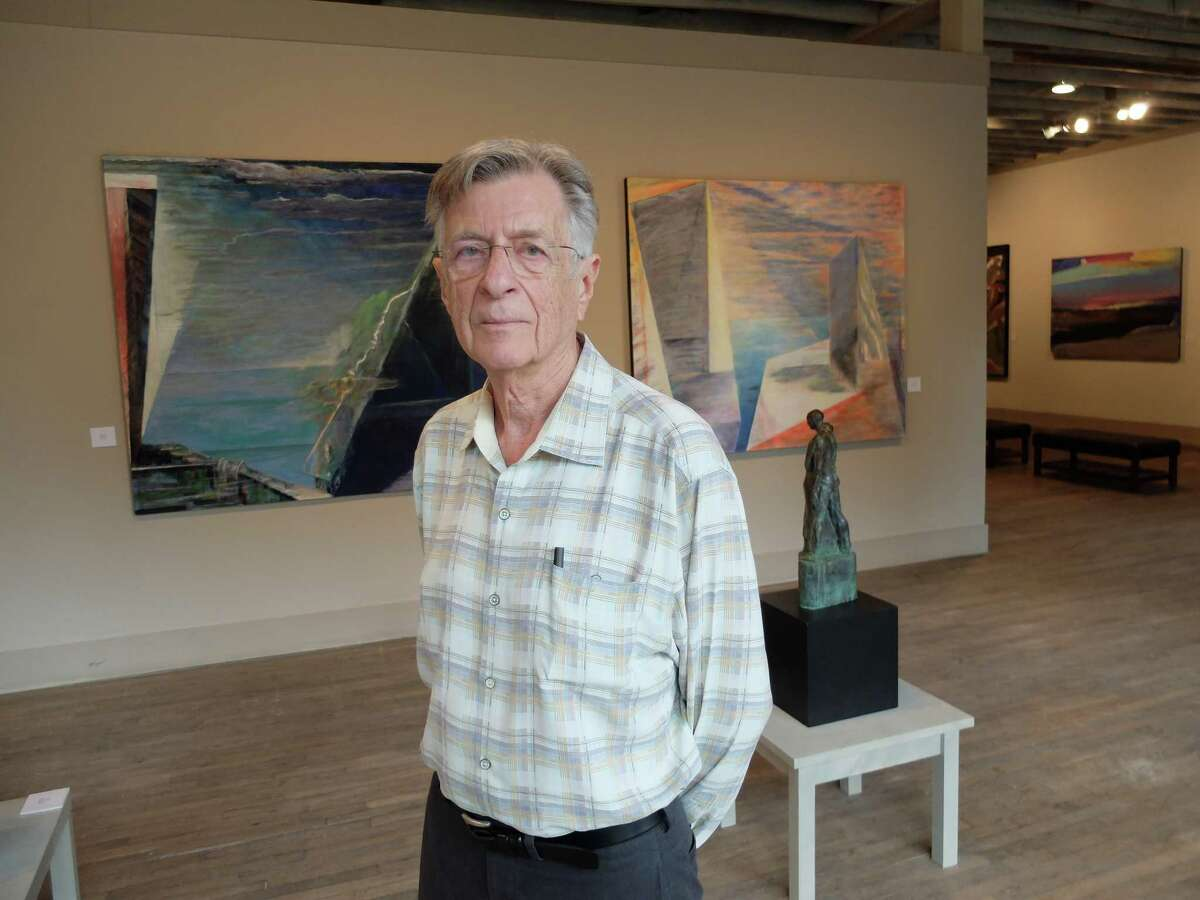 """Houston artist Richard Stout, 80, at William Reaves Fine Art, where """"Pursuit of the Sublime: The Art of David Cargill and Richard Stout"""" is on view through Oct. 25."""