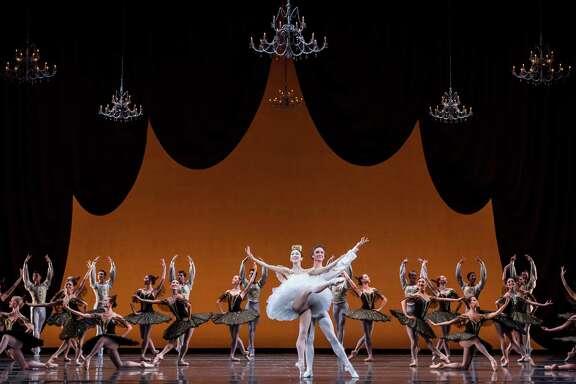 "Yuriko Kajiya, Jared Matthews and artists of Houston Ballet show their strong classical technique in Stanton Welch's ""Paquita."""