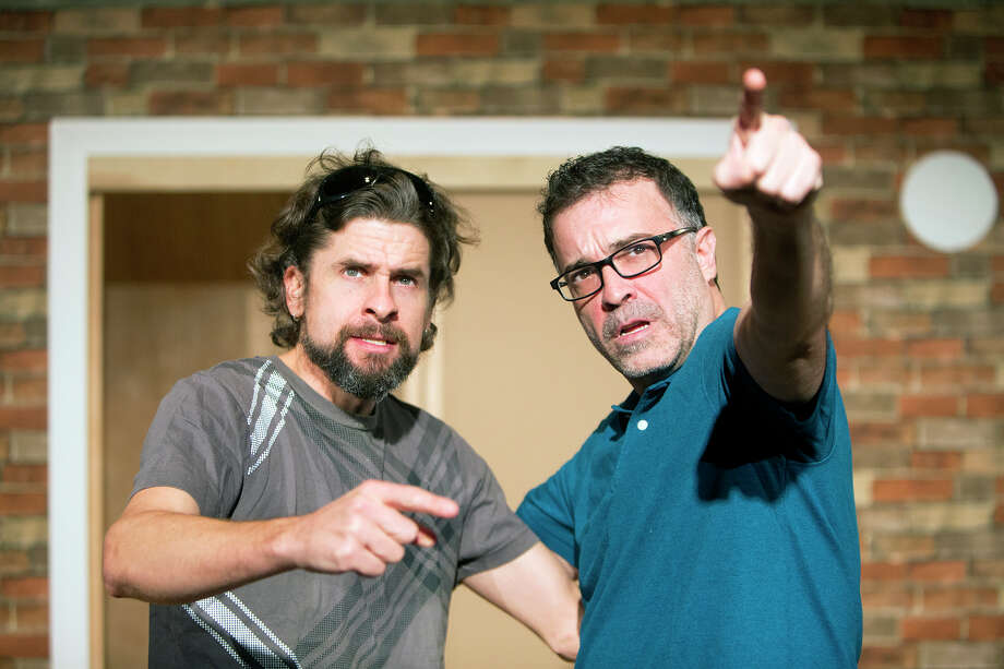 """George Parker, left, and Jeff Miller star in Catastrophic Theatre's production of """"Detroit."""" Photo: Cody Duty, Staff / © 2014 Houston Chronicle"""