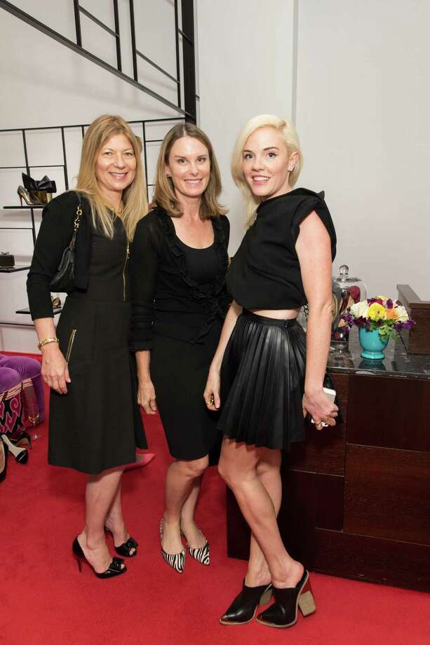 Ann Alkire, Sarah Woodberry and Kara Michelle at the Christian Louboutin opening celebration in San Francisco on September 16, 2014. Photo: Drew Altizer, Drew Altizer Photography / DREW ALTIZER PHOTOGRAPHY