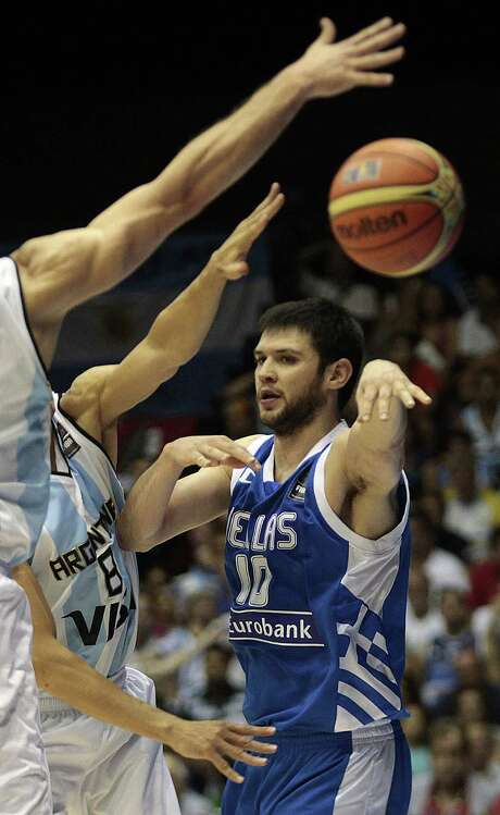 Kostas Papanikolaou built a solid career in the FIBA with two Euroleague titles. Making the transition to the NBA could prove difficult for the 24-year-old, but he believes now's the right time to take that challenge. Photo: Miguel Angel Morenatti, STR / AP