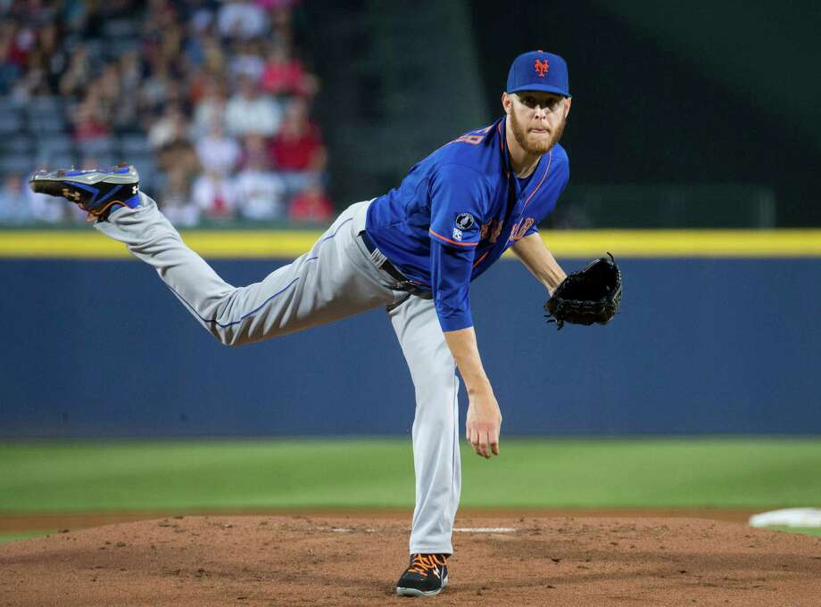 New York Mets starting pitcher Zack Wheeler (45) works in the first inning of a baseball game against the Atlanta Braves, Friday, Sept. 19, 2014, in Atlanta. (AP Photo/John Bazemore) ORG XMIT: GAJB106 Photo: John Bazemore / AP