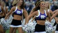 College football cheerleaders in action - Photo