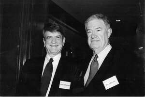 "Jack Devine, right, former CIA official and author of ""Good Hunting: An American Spymaster's Story,"" shown with U.S. Rep. Charlie Wilson of Texas."