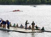 Teams take part in the 28th Head of the Hudson Regatta on Saturday Sept. 20, 2014 in Albany, N.Y.  (Michael P. Farrell/Times Union)