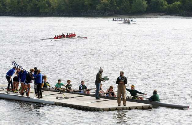 Teams take part in the 28th Head of the Hudson Regatta on Saturday Sept. 20, 2014 in Albany, N.Y.  (Michael P. Farrell/Times Union) Photo: Michael P. Farrell / 00028333A