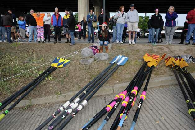 Family and friends watch the 28th Head of the Hudson Regatta on Saturday Sept. 20, 2014 in Albany, N.Y.  (Michael P. Farrell/Times Union) Photo: Michael P. Farrell / 00028333A