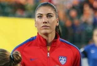Recent developments have some wondering whether Hope Solo should be allowed to play for the U.S. (Photo by Jen Fuller/Getty Images)