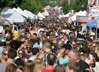 Crowds fill Lark Street at this year's LarkFest Saturday Sept. 20, 2014, in Albany, NY.  (John Carl D'Annibale / Times Union)