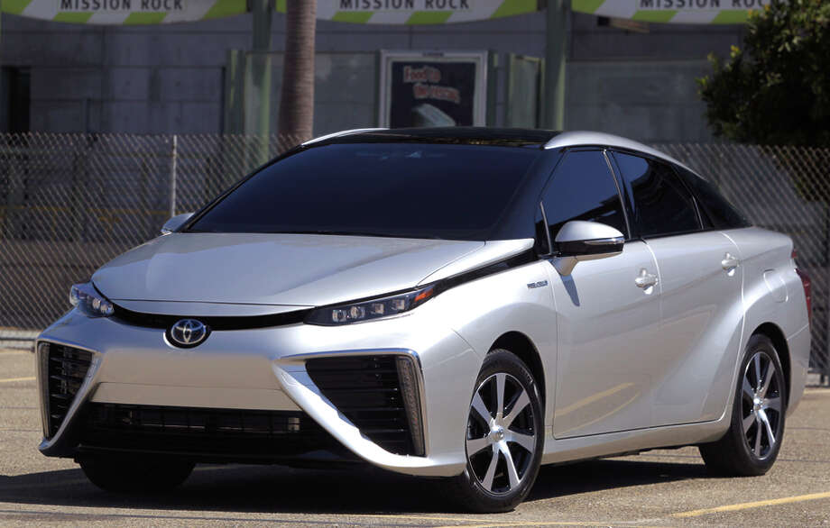 The Mirai runs on runs on hydrogen. It will be available at eight dealerships in California but must be ordered online. Photo: Paul Chinn / Paul Chinn / The Chronicle 2014 / ONLINE_YES