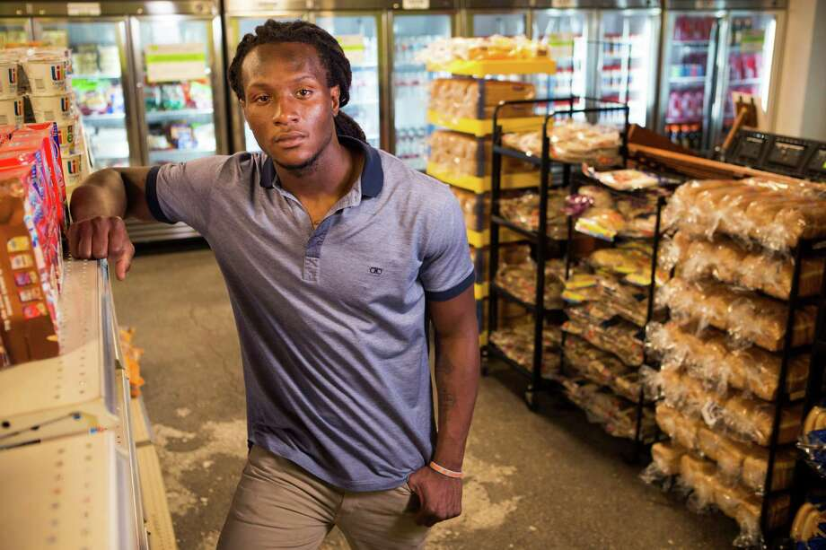 In short order, Texans wide receiver DeAndre Hopkins has gone from a food bank recipient to a Houston Food Bank spokesman. Photo: Brett Coomer, Staff / © 2014 Houston Chronicle