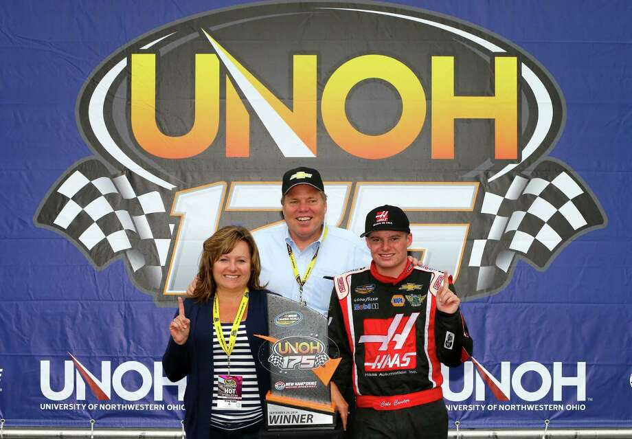 It's not often a NASCAR driver gets to pose in Victory Lane with his parents, but 16-year-old Cole Custer, right, got to do it after winning the Camping World Truck race at Loudon, N.H., and becoming the youngest winner in a NASCAR national series race. Photo: Jonathan Ferrey, Stringer / 2014 Getty Images