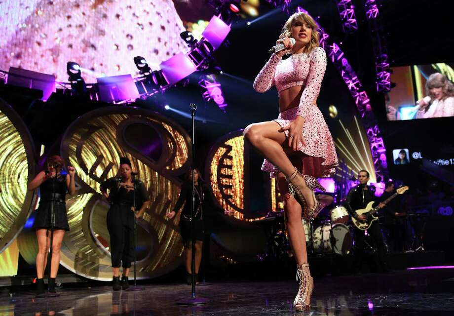 Singer Taylor Swift performs onstage at the 2014 iHeartRadio Music Festival at the MGM Grand Garden Arena on Sept. 19, 2014 in Las Vegas, Nevada. Photo: Christopher Polk, Getty Images For Clear Channel / 2014 Getty Images