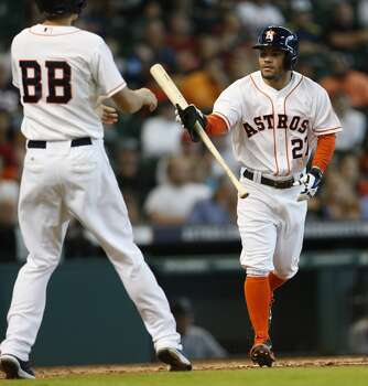 September 21: Astros 8, Mariners 3  The Astros closed out their 2014 home schedule with a series-clinching victory over the Mariners.  Record: 69-87. Photo: Karen Warren, Houston Chronicle