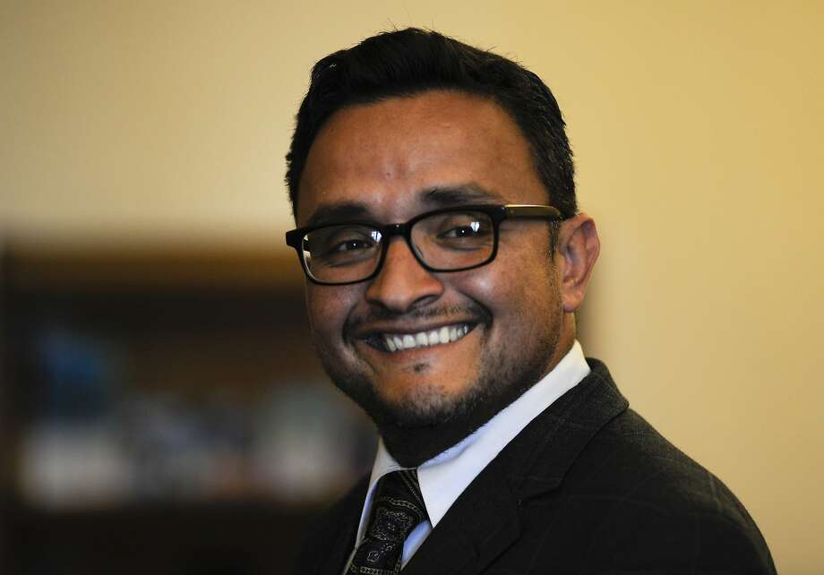 David Campos, member of the San Francisco Board of Supervisors, reacts during an interview in his office at City Hall in San Francisco, California, U.S., on Tuesday, Sept. 16, 2014. San Francisco lawmakers are moving toward providing $2.1 million for lawyers to represent undocumented immigrant children facing deportation after crossing the U.S. border to escape violence in Central America. Photographer: David Paul Morris/Bloomberg *** Local Caption *** David Campos Photo: David Paul Morris, Bloomberg