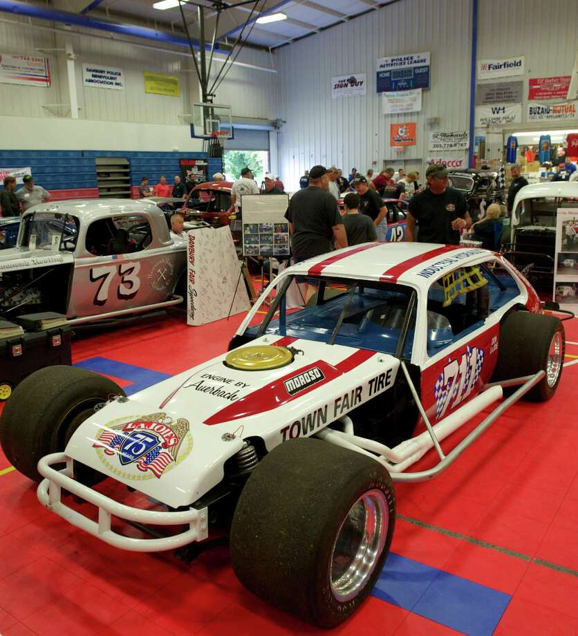 A modified stock car on display at the 13th annual Southern New York Racing Association reunion, held at The Danbury Police Activities League Center, in Danbury, Conn, on Sunday, September 21, 2014. Photo: H John Voorhees III / The News-Times Staff Photographer