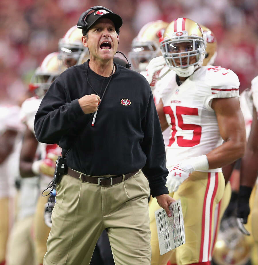 Niners coach Jim Harbaugh said officials are not to blame for his team's problems. Photo: Christian Petersen,  Staff / Getty Images / 2014 Getty Images