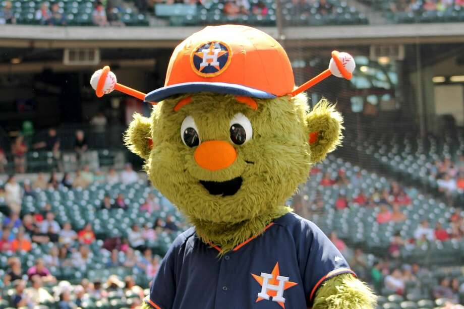 """Orbit, the Houston Astros big green mascot""""That's tough, but I think the best present I ever got was a talking Alf doll. He was someone I looked up to and was a comedic genius. He also showed that aliens and humans can co-exist and become pretty good pals."""" Photo: Children's Museum Of Houston"""