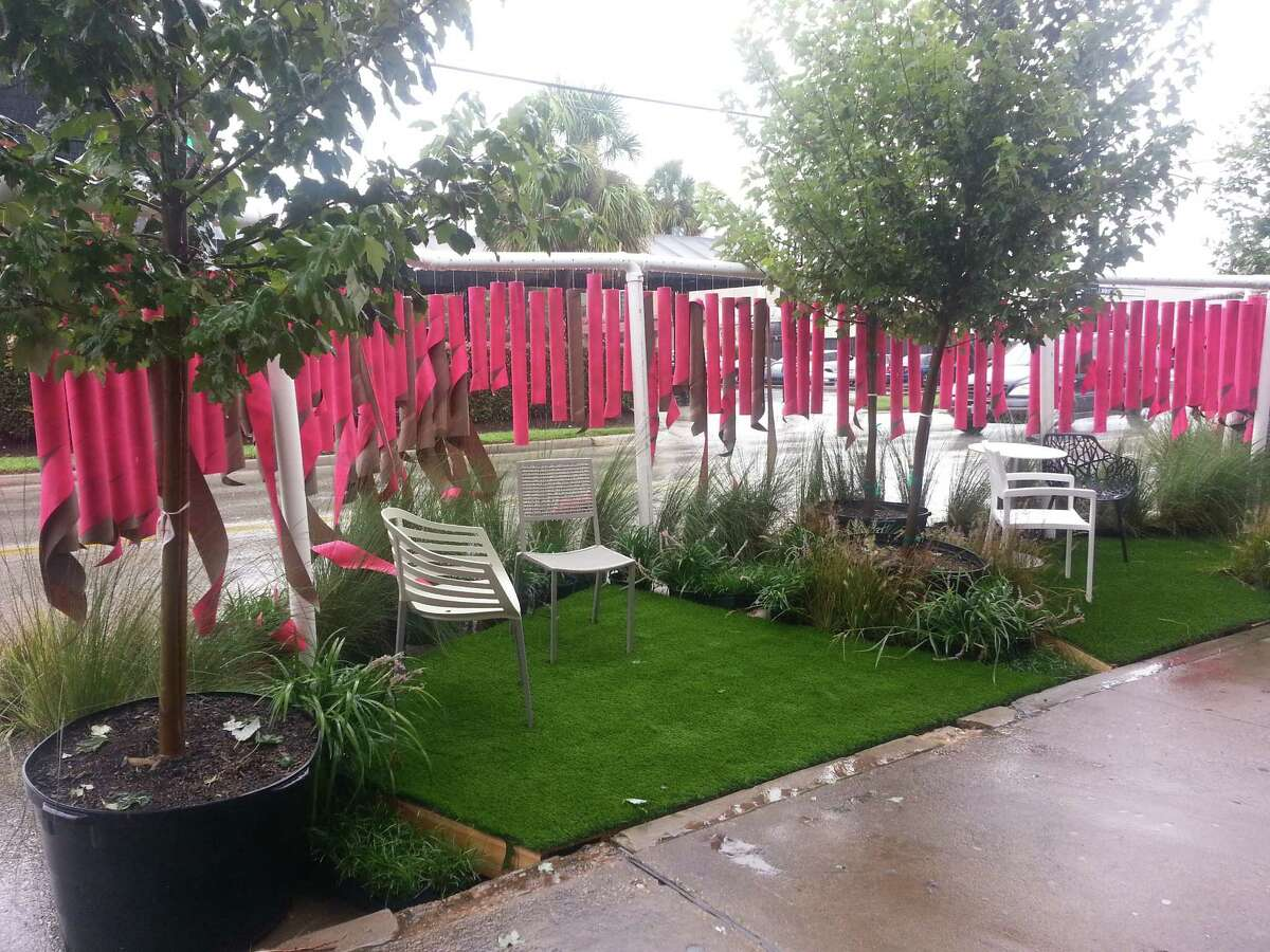 In 2014, landscape architects from Clark Condon Associates turned 40 feet of Westheimer into a temporary parklet for Park(ing) Day.
