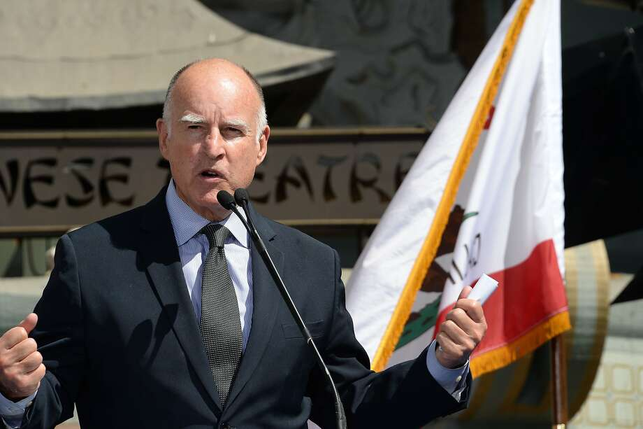 """I believe it would be more prudent to leave the matter of  diaper-changing stations to the private sector,"""" said Gov. Jerry Brown in  his veto message Friday. Photo: Robyn Beck, AFP/Getty Images"""