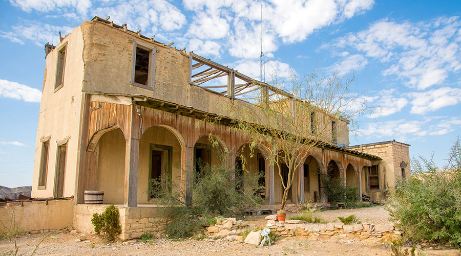 Historic Perry Mansion In Ghost Town Of Terlingua Could