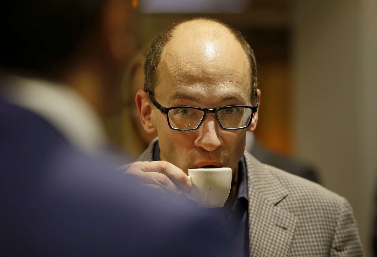 Twitter CEO Dick Costolo sipped an espresso as he listened to Italian Prime Minister Matteo Renzi at the Twitter headquarters in San Francisco, Calif. The Italian Prime Minister Matteo Renzi made a whirlwind tour of San Francisco and Silicon Valley including a stop at Twitter headquarters Monday September 22, 2014.