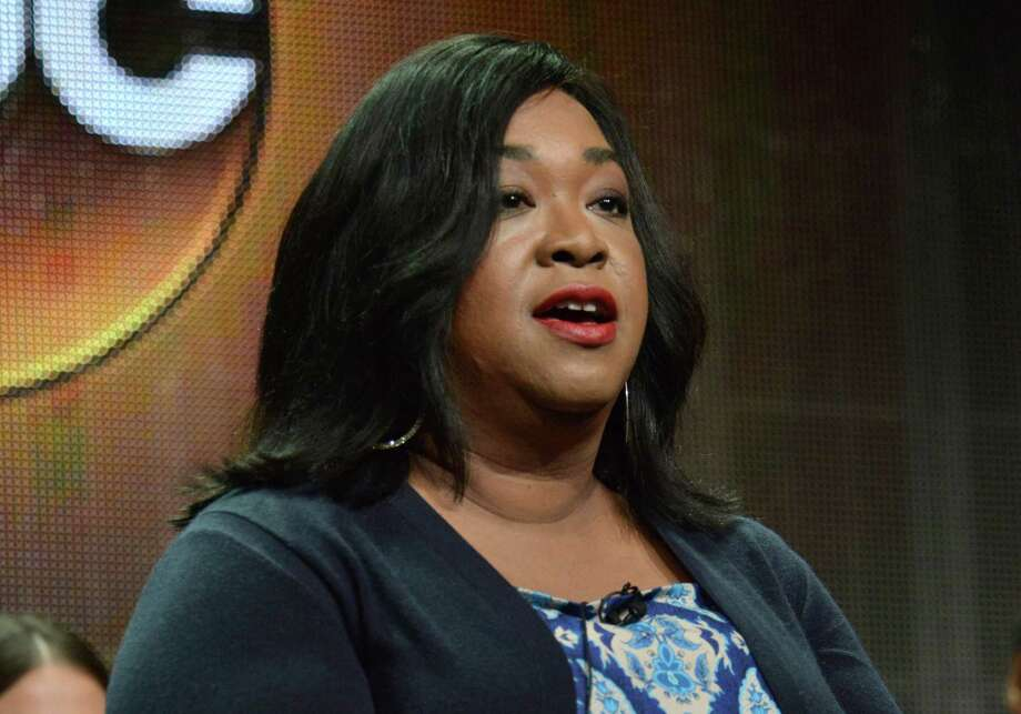 """FILE - In this July 15, 2014 photo, showrunner Shonda Rhimes speaks during the """"How to Get Away with Murder"""" panel at the Disney/ABC Television Group 2014 Summer TCA at the Beverly Hilton Hotel in Beverly Hills, Calif. ABC's entire Thursday prime-time schedule is composed of shows run by Rhimes. (Photo by Richard Shotwell/Invision/AP, File) ORG XMIT: NY111 Photo: Richard Shotwell / Invision"""