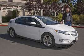 Photos of Fred Krock and his 2012 Chevrolet Volt. Photographed on May 9, 2014 at the Rossmoor Community in Walnut Creek, CA.