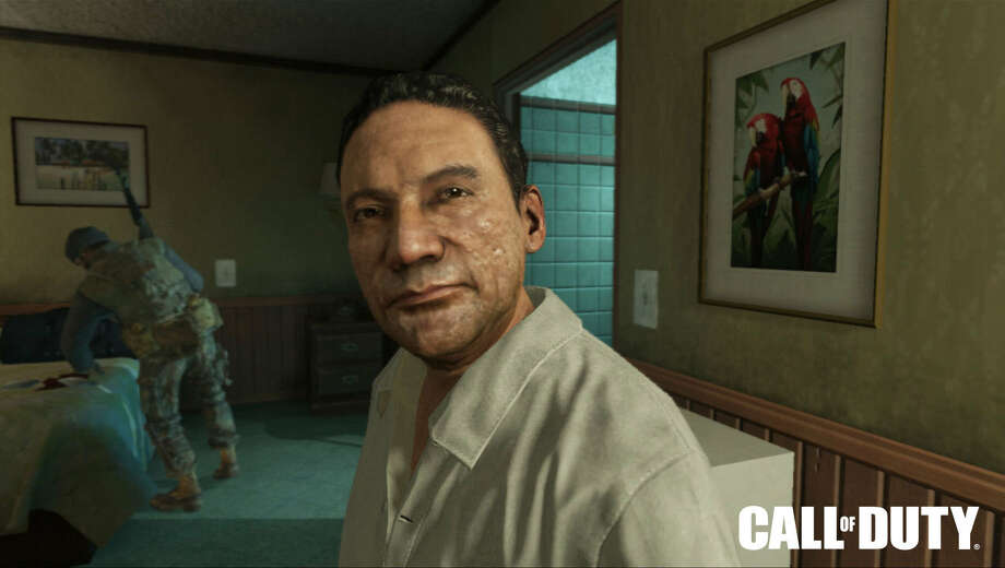 """This image shows former Panamanian dictator Manuel Noriega as depicted in the Activision 2012 game, """"Call of Duty: Black Ops II."""" Photo: Uncredited, HONS / Activision Blizzard"""