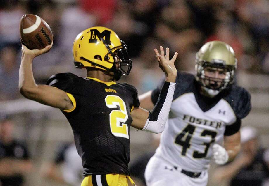 Marshall quarterback Jeremy Smith (2) throws during the first half of a high school football game against Foster at Hall Stadium on Friday, Sept. 19, 2014, in Missouri City. ( J. Patric Schneider / For the Chronicle ) Photo: J. Patric Schneider, Freelance / © 2014 Houston Chronicle