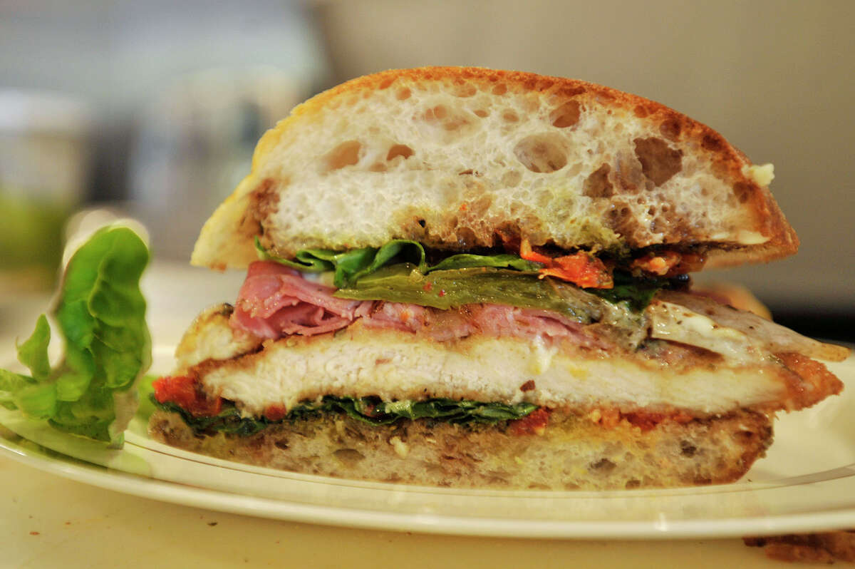 The Village Table - StamfordWebsite Pictured: Grilled chicken and gorgonzola with prosciutto sandwich