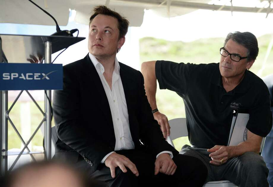 "SpaceX founder Elon Musk, at the Boca Chica groundbreaking with Gov. Rick Perry, says, ""We want to be in a place where we're truly wanted."" SpaceX received a combines $20 million in and state and local incentives."