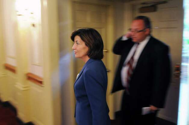 Kathy Hochul, Gov. Andrew Cuomo's running mate, enters state Democratic Committee fall meeting Monday, Sept. 22, 2014, at the Desmond Hotel in Colonie, N.Y. (Will Waldron/Times Union) Photo: WW / 00028714A