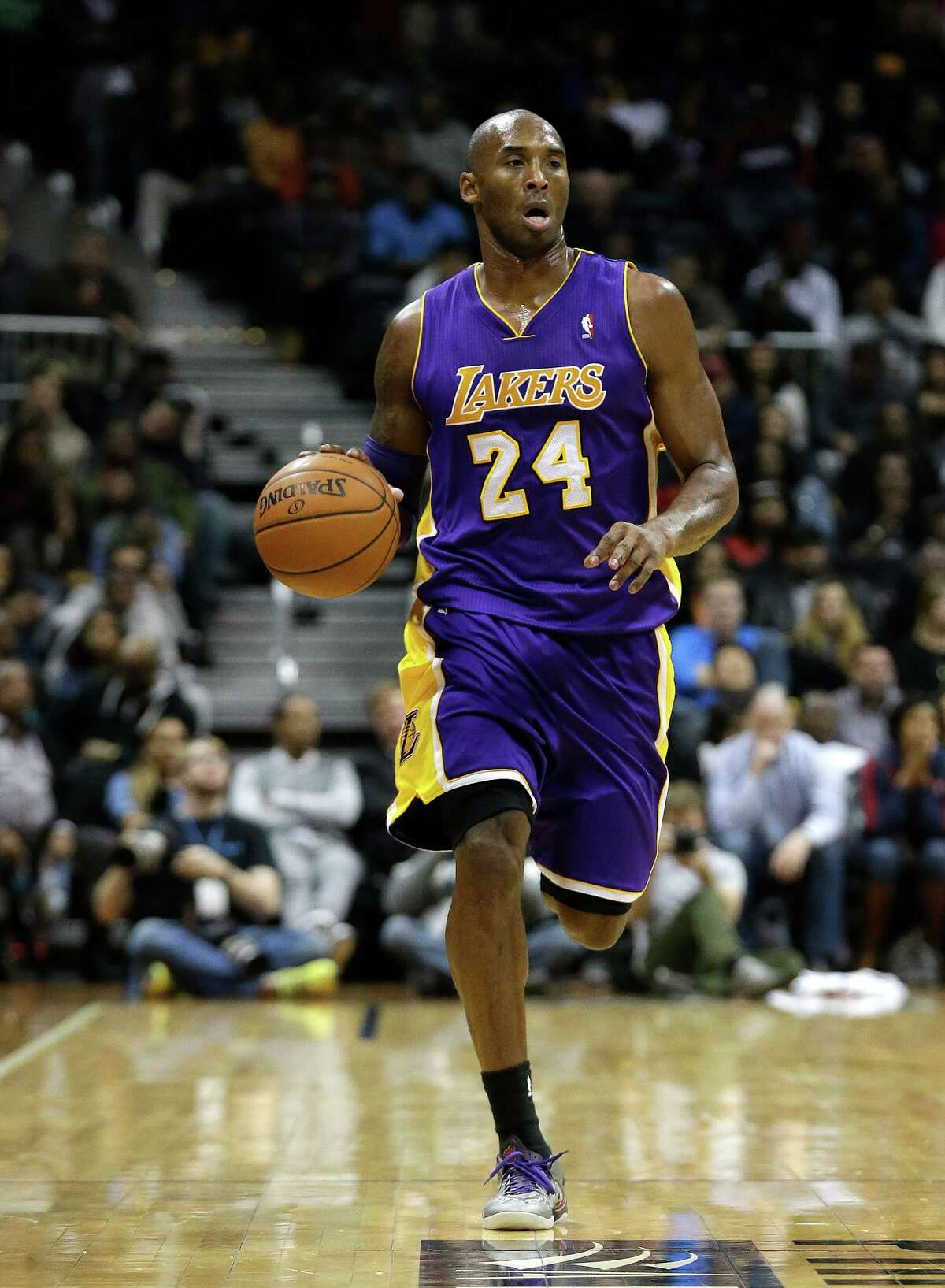 25. Kobe Bryant Team: Los Angeles Lakers Position: Shooting guard 2013-14 Stats: 13.8 PPG, 4.3 RPG, 6.3 APG, 1.2 SPG (only played six games due to injury)