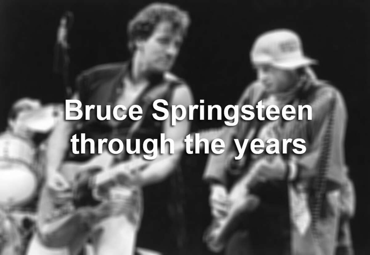 Rocker Bruce Springsteen celebrates his 65th birthday today. Scroll through the slideshow to see photos of the rock star across the decades.
